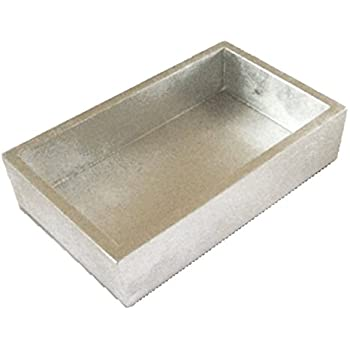Entertaining With Caspari Lacquer Guest Napkin Holder, Silver