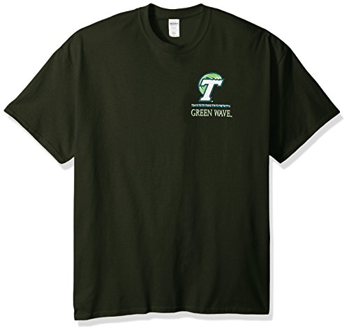 New World Graphics NCAA Tulane Green Wave Team Mosaic Short Sleeve Shirt, Large, Forest Green ()