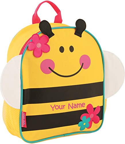 (Personalized Stephen Joseph Bee Mini Sidekick Backpack with Embroidered Name)