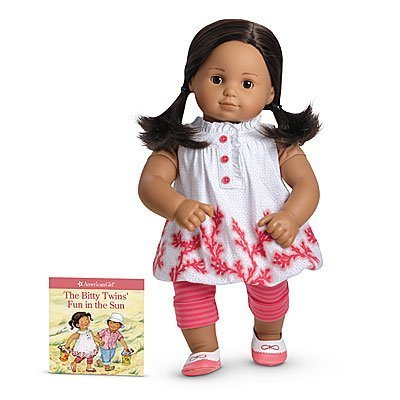 American Girl Bitty Baby/Twins Coral Cutie Outfit (Cutie Girl Shoes)
