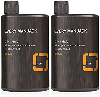 product image for Every Man Jack 2-in-1 Daily Shampoo + Conditioner - Citrus   13.5-ounce Twin Pack - 2 Bottles Included   Naturally Derived, Parabens-free, Pthalate-free, Dye-free, and Certified Cruelty Free