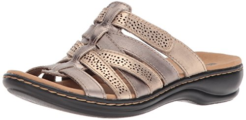CLARKS Women's Leisa Field Platform,Metallic Multi Leather,7 Medium US ()