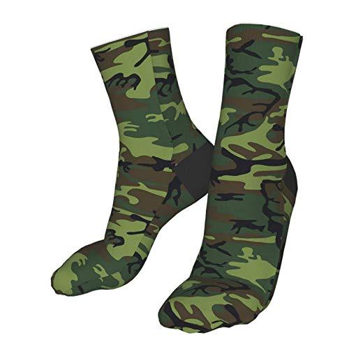 Dary Green Tactique Camouflage Militaire Armée Thème Chaussettes Imprimer Femmes Hommes Confortable Running Athlétique… 1