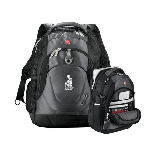 CUNY Graduate Center Wenger Swiss Army Tech Charcoal Compu Backpack 'Official Logo' by CollegeFanGear