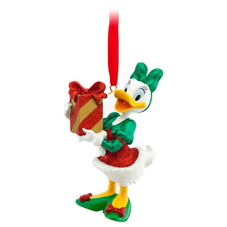 - Daisy Duck with Present Christmas Ornament