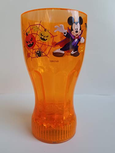 Mickey Mouse Vampire and Skeleton Orange Flashing Halloween Cup
