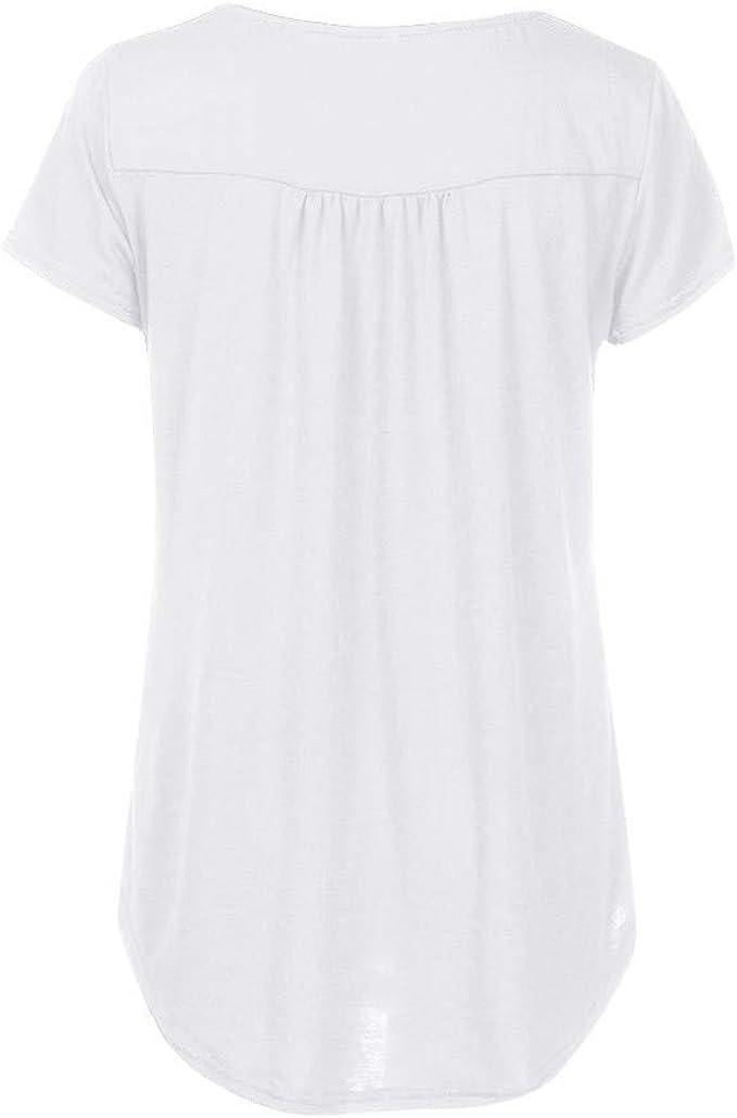 Fossen Camisetas Mujer Blusas Mujer Tallas Grandes EN Ofertas Blusas de Mujer Elegantes con Encaje de Fiesta de Moda 2017: Amazon.es: Ropa y accesorios