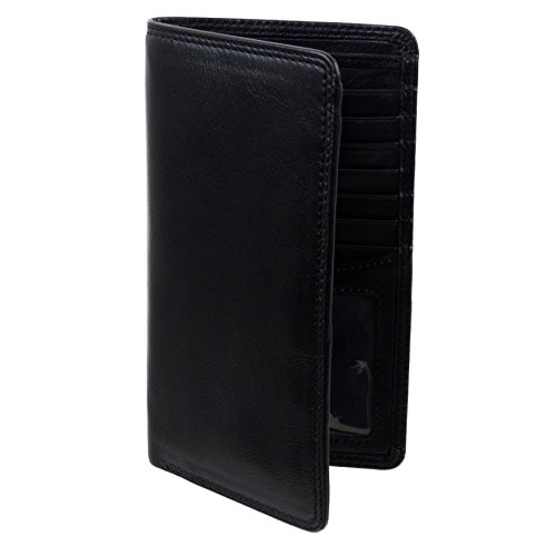 Black SLIM Mens Pocket with WALLET Suit Breast in supplied Brown VISCONTI Black Box or LEATHER qSZwAq8