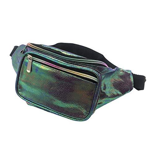Dolores Fanny Pack Waist Bags for Women Men Fashion Belt Waist Bum Bag Hip Pack for Rave Festival Party Travel Beach Navy Blue -