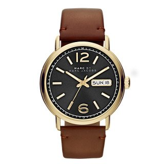 Marc by Marc Jacobs Men's MBM5077 Fergus Gold-Tone Stainless Steel Watch with Brown Leather - Men Mark Jacobs For