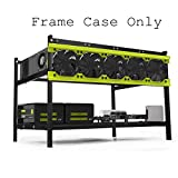Happybuy 6 GPU Open Air Mining Frame Alluminum Miner Frame Rig Case Mining Case 6GPU Miner Case Crypto Coin Open Air Computer Frame Case for ETH BTC Ethereum Miner Frame (6GPU Mining Rag)