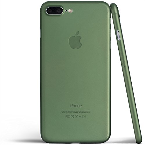 - totallee iPhone 8 Plus Case, Thinnest Cover Premium Ultra Thin Light Slim Minimal Anti-Scratch Protective - for Apple iPhone 8 Plus The Scarf (Deep Green)