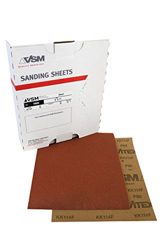 VSM 80036 Abrasives Cloth Sheet, 9'' x 11'', 240 Grit, Aluminum Oxide (Pack of 50) by VSM