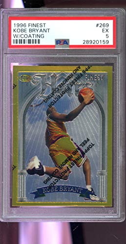 Amazon.com: 1996-97 Topps Finest Heirs #269 Kobe Bryant ROOKIE PSA 5 Graded Basketball Card: Collectibles & Fine Art