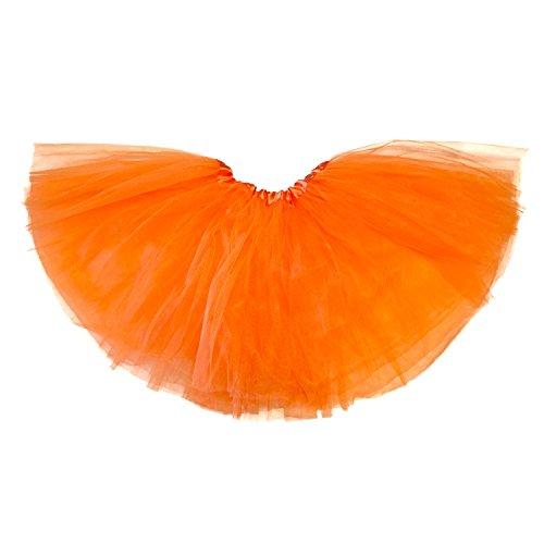 [My Lello Little Girls Tutu 3-Layer Ballerina Orange (9 mo - 3T)] (Tutu For Toddler)