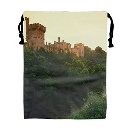 Ireland Lismore Castle - Lismore Castle County Waterford Ireland Drawstring Bag Sequin Party Favors Backpack Gift for Girl
