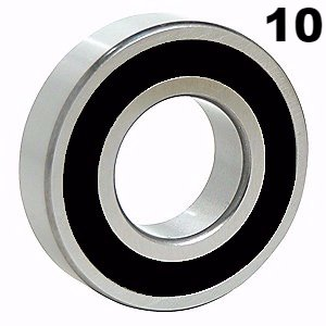 uxcell/® 6203-2RS Deep Groove Ball Bearing 17x40x12mm Double Sealed Chrome Steel Bearings 1-Pack