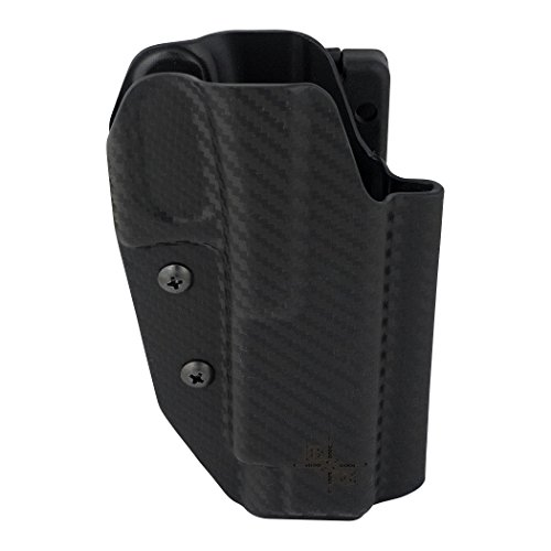 Uspsa Ipsc and 3 Gun Black Scorpion Gear, OWB Kydex Holster Pro Competition IDPA: Fits Glock 34 35 ... (Carbon Fiber)