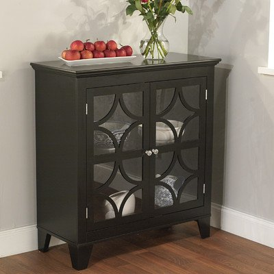 glass accent cabinet - 1
