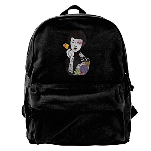 For Women Put Shoulder Teens amp; Ypack Travel Men Colour College Backpack Some Black Canvas On wpgxTqYg1