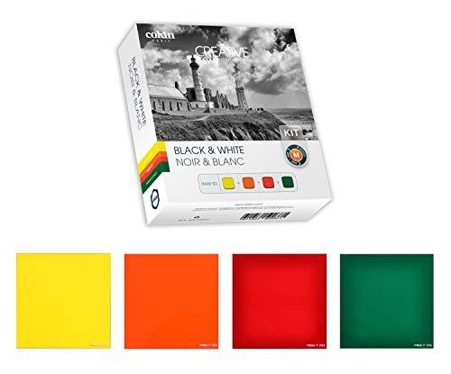 Cokin Square Filter Black & White Creative Kit - Includes Yellow (001), Orange (002), Red (003), Green (004) for M (P) Series Holder - 84mm X 84mm