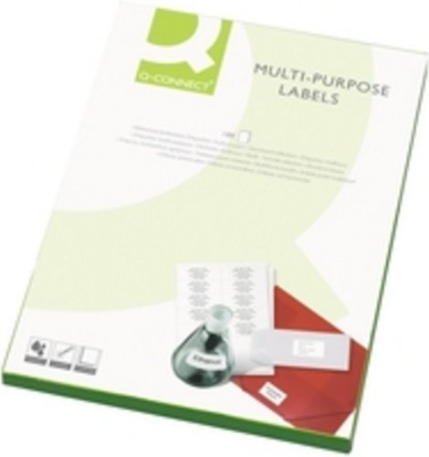 Q-Connect Labels 105x42 ButtCut Pack of 100 White