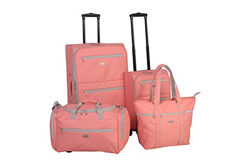 American Flyer Perfect 4-Piece Luggage Set, Coral