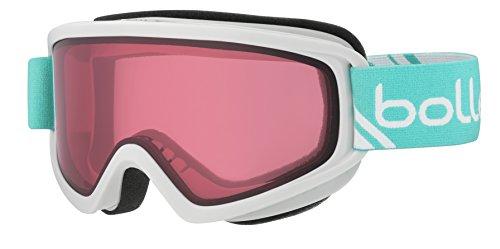 Bolle Freeze Shiny Vermillion Googles, White/Mint, One - Ski Bolle Goggles Kids