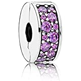 PANDORA - Clip Fancy Purple Shining Elegance Silver 925/1000 PANDORA 791817CFP