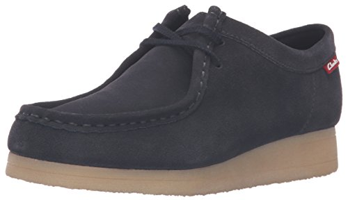 CLARKS Women's Padmora Oxford, Navy Suede, 9 M (Clarks Wallabee Oxford)