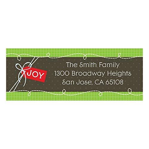 Custom Stockings for Santa - Personalized Christmas & Holiday Return Address Labels - Set of 30 ()