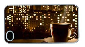 Hipster custom iPhone 4S cover Hot Coffee Window PC White for Apple iPhone 4/4S