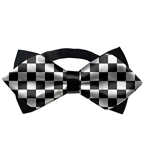 (YEAHSPACE Classic Formal Checkerboard Pre-Tied Tuxedo Mens Bow Ties)