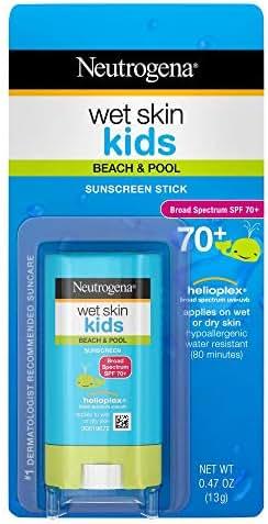 Neutrogena Wet Skin Kids Sunscreen SPF 70+ - .47 oz, Pack of 4