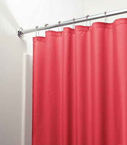 mDesign Mildew Free Water Repellent Fabric Curtain