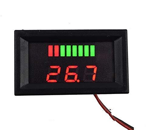 Solnoi Electronics DC 12V-60V Lead Acid Red Digital Lead Battery Capacity Indicator Charge Level Lead-Acid LED Tester Voltmeter Price & Reviews