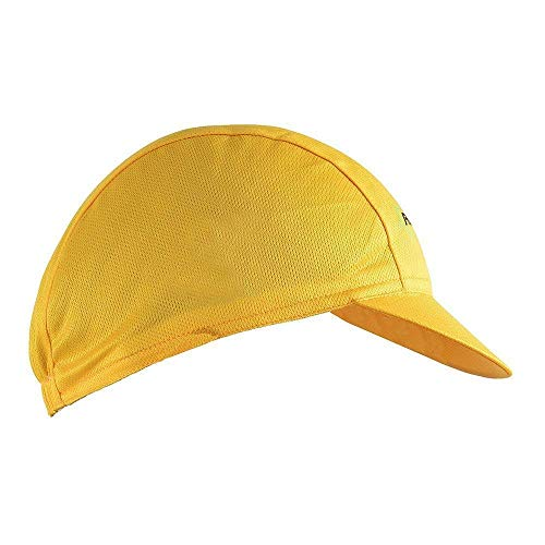 Hysenm Tour De France Polyester Breathable Sweat Absorbent Cycling Sports Sun Hat Helmet Liner Champion Cap (Yellow)