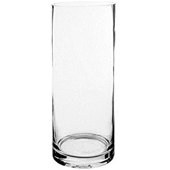 Amazon Cys Glass Cylinder Vase H 16 Open D 6 Home Kitchen