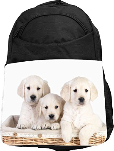 brador Puppies in Basket Tech Backpack - Padded for Laptops & Tablets Ideal for School or College Bag Backpack ()