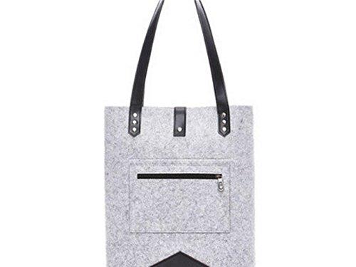 Yunqir Multi-functional 11 Inch Women Felt Handbag Tablet Laptop Bag Handbag Computer Inner Bag