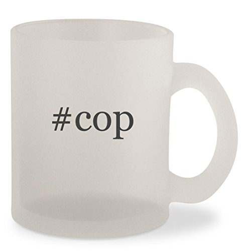 #cop - Hashtag Frosted 10oz Glass Coffee Cup Mug