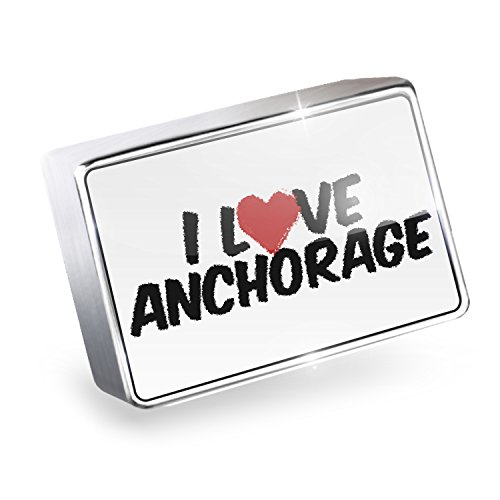 Floating Charm I Love Anchorage Fits Glass Lockets, - Anchorage Shops Glass