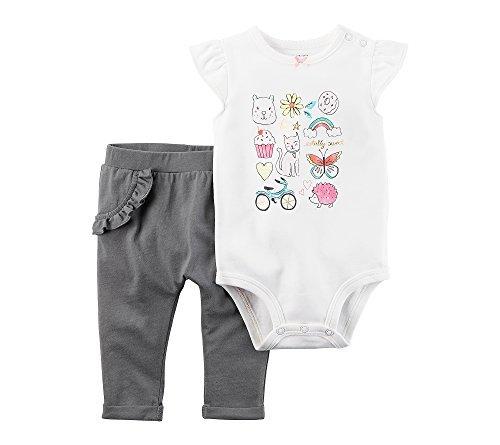 Carter's Baby Girls' 2 Piece Totally Sweet Bodysuit Pants Set 18 Months