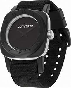 Converse VR022-005 - Reloj analógico de cuarzo para hombre con correa de tela, color negro