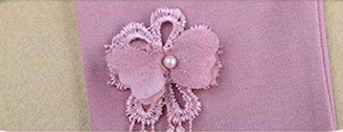 Omiky® Kinder Baby-Schmetterlings-Spitze-Mädchen-Hosen-Gamaschen-elastisches Kind-Tanzen-Hosen Pruple