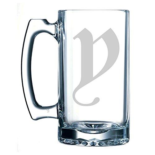 Beer History Stein (Olde English Lower Case 'y' - 25 oz Glass Beer Stein)