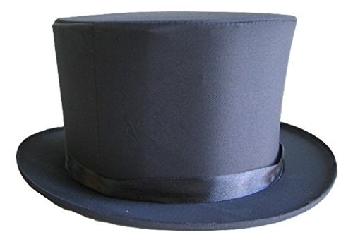 Collapsible Top Hat (Collapsible Pop-Up Folding Top Hat Tuxedo Formal Satin Silk Magician Medium)