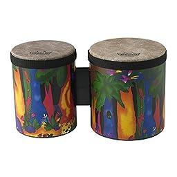 Remo Kids Percussion Bongo Drum - Fabric Rain Forest, 5\