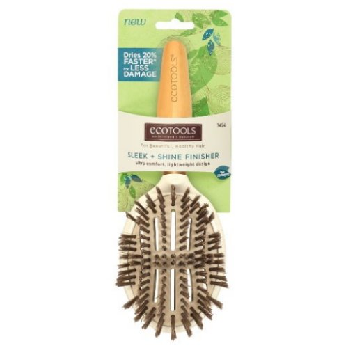 EcoTools Cruelty Free and Eco Friendly Sleek and Shine Finisher Hairbrush, Made with Recycled and Sustainable Materials ()