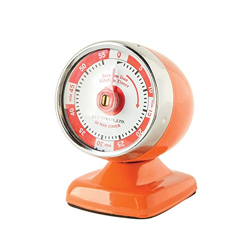 Orange Vintage Style Kitchen Timer Perfect to Sit on the Counter
